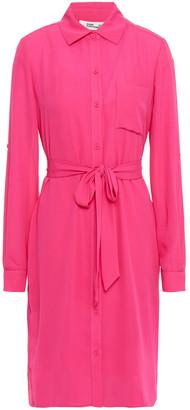 Diane von Furstenberg Kadi Belted Crepe Shirt Dress