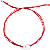 Dogeared VSB130-1A Friendship Linked Ring Silk Bracelet