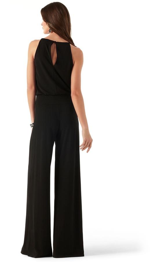 White House Black Market Keyhole Matte Jersey Jumpsuit