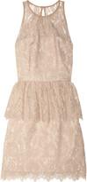Milly Liza floral-lace peplum dress