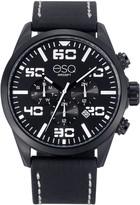 ESQ Swiss Men's Multi-Function Stainless Steel Watch,Black Dial