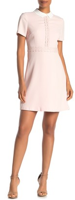Cynthia Steffe Cece By Short Peter Pan Collared Dress