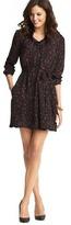 LOFT Tall Mini Animal Print Ruffle Collar Dress