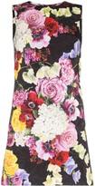 Dolce & Gabbana Floral print sleeveless cotton blend shift dress