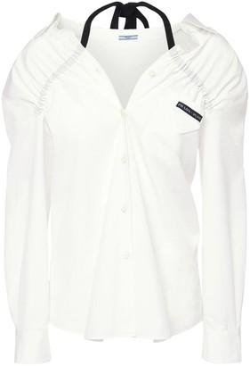 Prada Cotton Poplin Shirt W/ Drawstring
