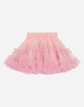 Dolce & Gabbana Multi-Layered Tulle Midi Skirt