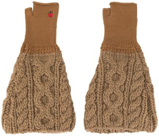 Undercover ribbed detail gloves