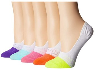 Sof Sole Raw Edge Ombre Footie 5-Pack (Assorted) Women's No Show Socks Shoes