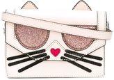 Karl Lagerfeld kitty embossed crossbody bag