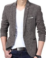 aishang-men Aishang Men's Slim Fit Casual One Button Formal Suit Blazer Coat Jacket Tops