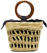 Sensi Studio - Bamboo-handle Straw Basket Tote Bag - Womens - Beige