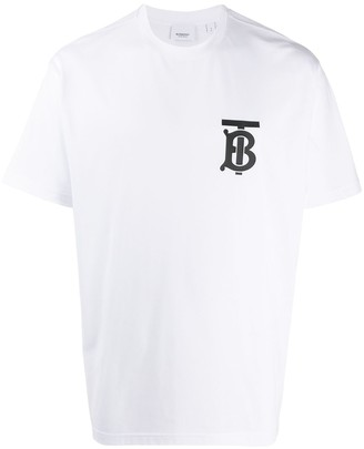Burberry contrast chest logo T-shirt