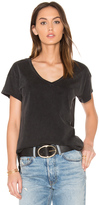 Bobi Distressed Jersey V Neck Tee