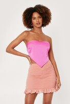 Thumbnail for your product : Nasty Gal Womens High Waisted Ruched Ruffle Hem Mini Skirt - Orange - 12