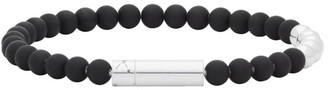 Le Gramme SSENSE Exclusive Black and Silver Beaded Bracelet