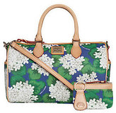 Dooney & Bourke As Is Coated Cotton Floral Satchel