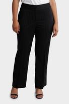 Black Pin Stripe Wide Leg Item Pant