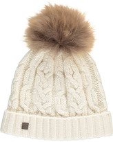 Tartine et Chocolat Cable Knit Beanie with Pompom