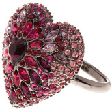 Betsey Johnson Pave Heart Ring - Size 7