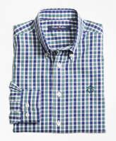 Brooks Brothers Non-Iron Mini Tartan Sport Shirt