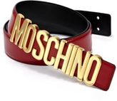 Moschino Logo-Buckle Leather Belt