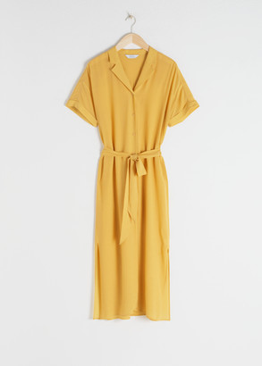 And other stories Belted Midi Shirt Dress