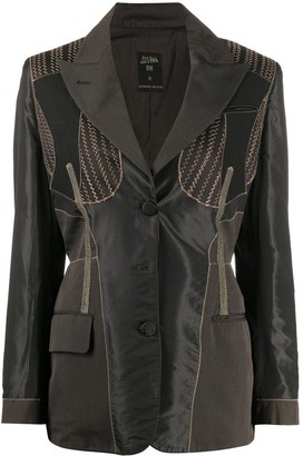 Jean Paul Gaultier Pre Owned 1980s Zigzag Stitching Jacket