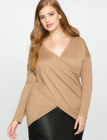 ELOQUII Plus Size Kelsey Cross Front Sweater