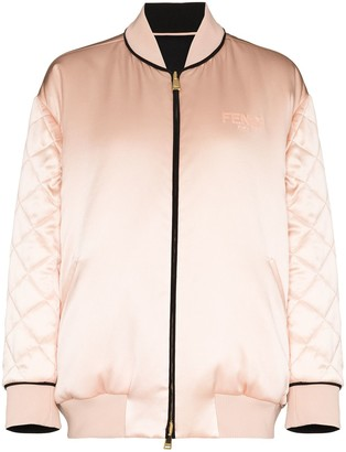 Fendi Reversible Silk Bomber Jacket
