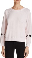 Monrow Star Embroidered Sweatshirt - 100% Exclusive