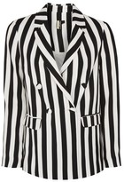 Topshop Stripe Suit Jacket