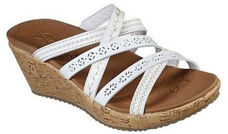 Skechers Multi Strap Slide Wedges- Beverlee Tiger Posse