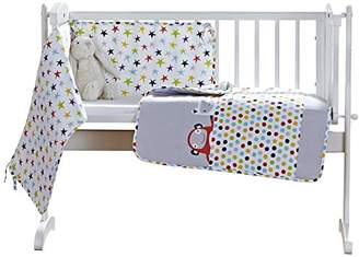 Clair De Lune Grey/Brights The Dudes Crib/Cradle Quilt & Bumper Bedding Set