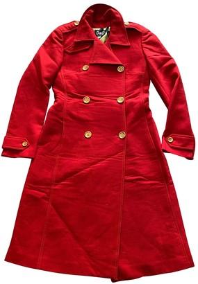 Dolce & Gabbana Red Wool Coat for Women