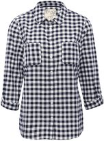 M&Co Gingham pocket detail shirt