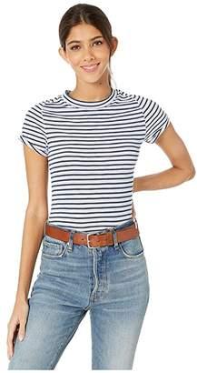 Free People Night Sky Tee Stripe (Blue) Women's T Shirt