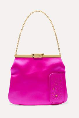 Swarovski Bienen Davis Bienen-Davis - 4am Crystal-embellished Satin Clutch - Pink