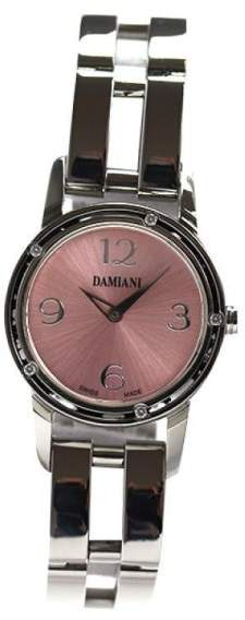 Damiani Brad Pitt D-side DS006 Stainless Steel Quartz Pink 5P Diamonds Womens 27mm Watch