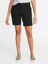 Old Navy Mid-Rise Twill Everyday Bermuda Shorts for Women - 9-inch inseam