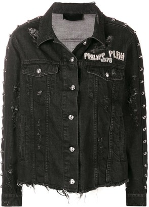 Philipp Plein Distressed Denim Jacket