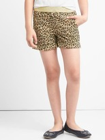 Gap Shimmer-waist cheetah shorts