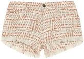 IRO Zack metallic cotton-blend tweed shorts