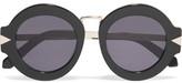 Karen Walker Maze Round-Frame Acetate And Metal Sunglasses