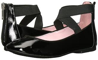 Nina Marissa (Toddler/Little Kid/Big Kid) (Black Crinkle Patent) Girl's Shoes
