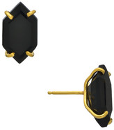 Heather Hawkins Oblong Hexagon Gemstone Stud Earrings - Multiple Colors