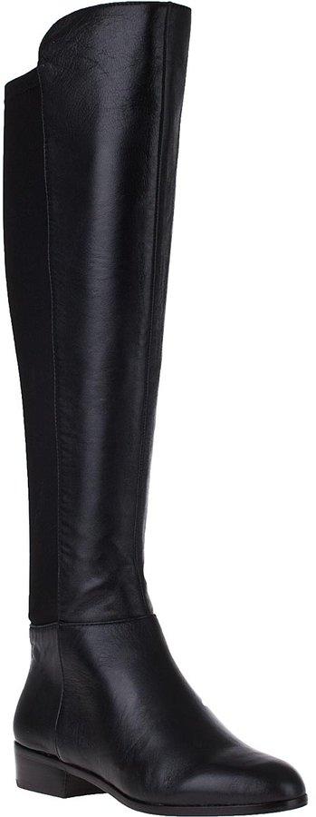 MICHAEL Michael Kors Bromley Flat Tall Boot Black Leather