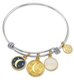 "Unwritten Dream"" Adjustable Bangle Bracelet in Stainless Steel"