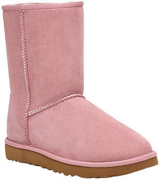 UGG Women's Slippers PINK - Pink Crystal Classic Short II Suede Boot - Women
