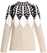 Peter Pilotto Round-neck intarsia-knit wool-blend sweater