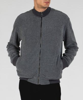 Atm French Terry Fleece Zip-Up Jacket - Charcoal